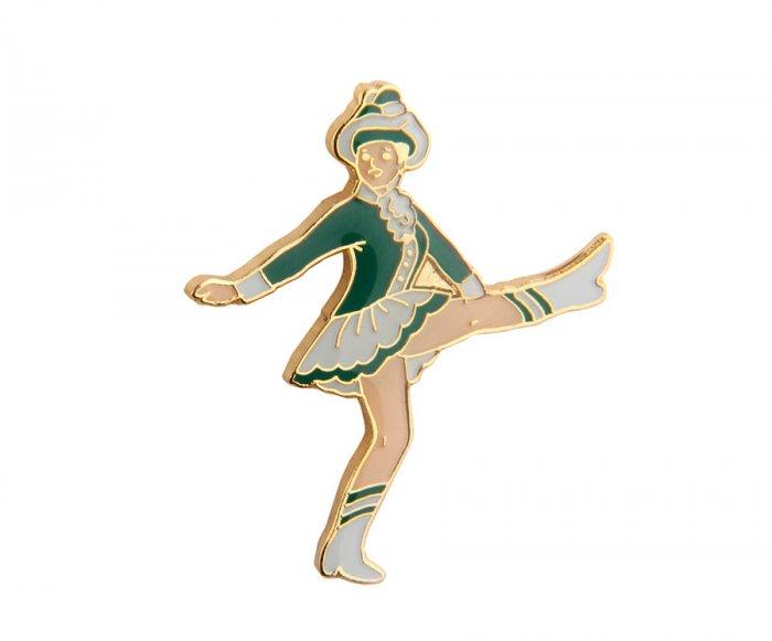 Tanzmariechen Pin grün weiß