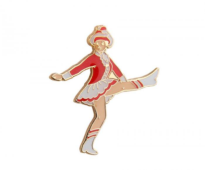 Tanzmariechen rot weiß Pin