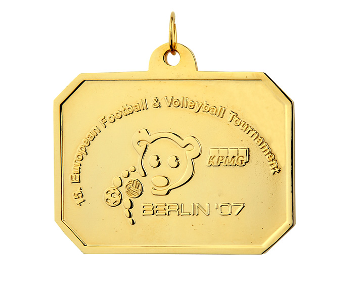Sportmedaille Football Volleyball