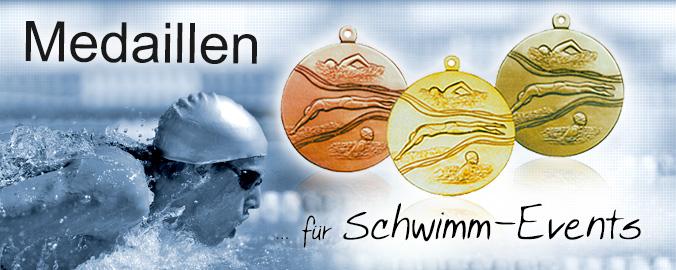 Schwimm-Medaillen